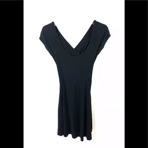 Brandy Melville Black V-Neck Dress